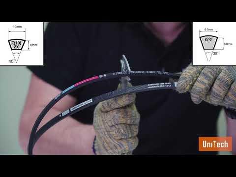 Как определить размер приводного клинового ремня