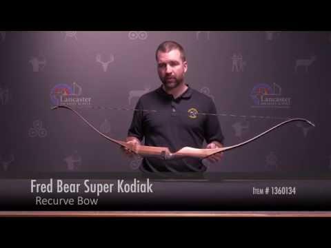 Fred Bear Super Kodiak Recurve Bow Review At LancasterArchery.com