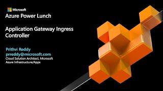 Application Gateway Ingress Controller for AKS