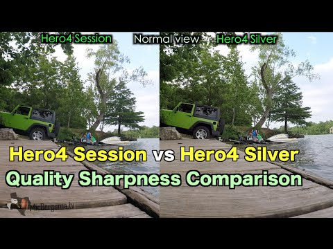 GoPro Hero4 Session Silver Sharpness Quality Comparison