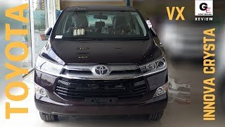 2018 Toyota Innova Crysta 2.4 VX updated model cruise control rear fog lamp review !!! ...