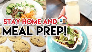 🏠 STAY AT HOME AND MEAL PREP #WITHME 🍽 COOK ONCE EAT ALL WEEK! 🥗 HEALTHY + BUDGET MEAL PREP