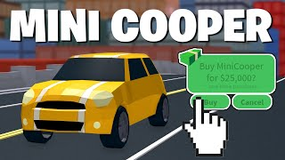 GETTING MINI COOPER IN MY NEW ACCOUNT! ROBLOX JAILBREAK