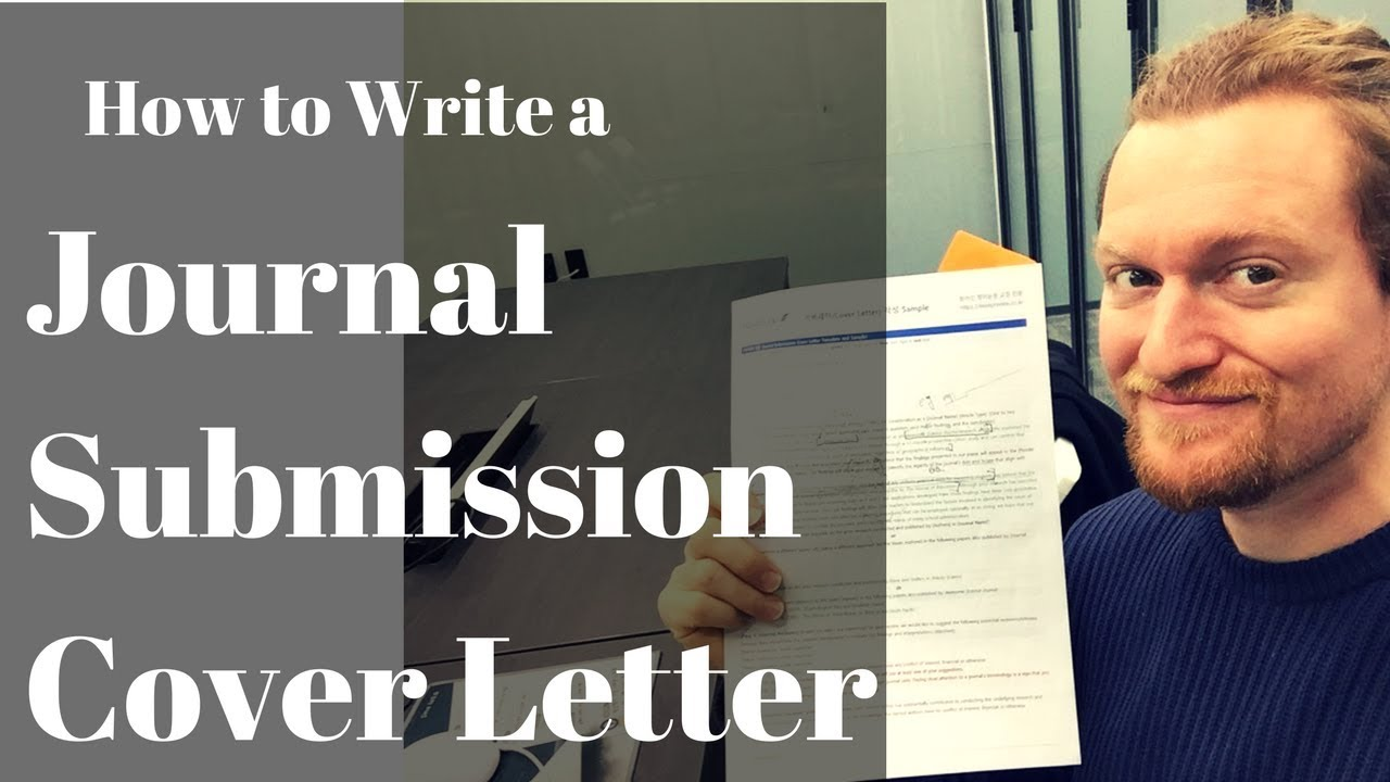 How to Write a Journal Submission Cover Letter  YouTube