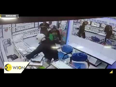 Caught on cam: Robbers loot jewellery shop near Magadi road in Bangalore