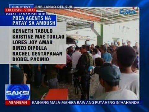 Saksi: 6 PDEA agents, patay matapos tambangan