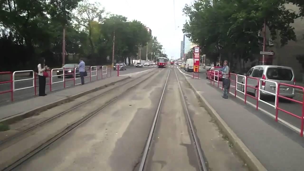 Tram line n.4, Bratislava, Slovakia, in cab view, part.3 ...