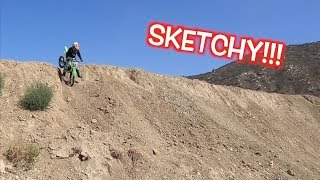 KID RIDES DIRT BIKE OFF A CLIFF!!!