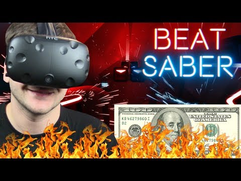$100 Bills EXPERT - BEAT SABER (HTC VIVE VR)
