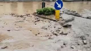 Pioggia torrenziale a Primaluna