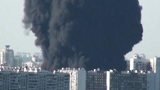 (12.08.2015) Пожар на МОСКВА-РЕКЕ: ВИДЕО КАДРЫ очевидцев (МАРЬИНО БРАТЕЕВО)