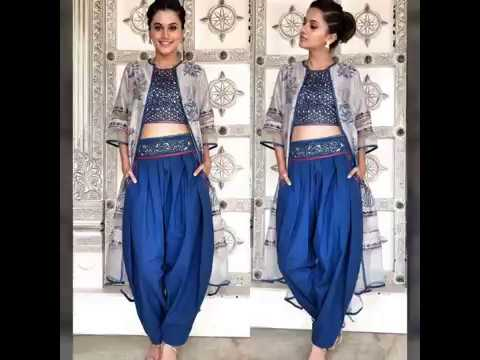 eeb2765265731b Exclusive dhoti pants with crop tops short kurti- 2018 - YouTube
