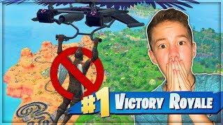 הצלחתי לנצח בלי לנחות בפורטנייט!!! (Fortnite Battle Royale)