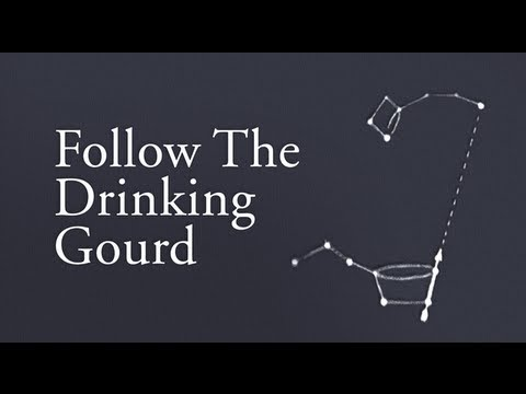 Image result for follow the drinking gourd