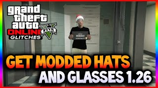 """Gta 5 Online: New """"how To Get Santa Hats And Checkerboard Glasses 1.26"""" Gta 5 Outfit Glitches"""