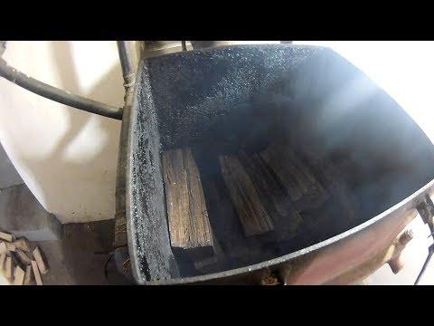 Котел Холмова самотяга на сырых дровах