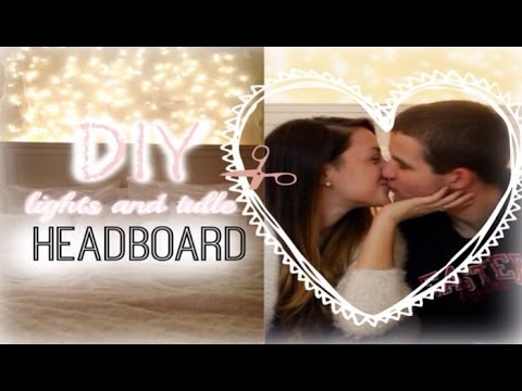 Diy room decor lights and tulle headboard with jerry youtube