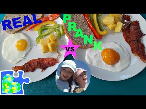 REAL vs PRANK FOOD + BEAN BOOZLED and MORE! You Can't Tell the Difference! So Real!