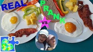 REAL vs PRANK FOOD + BEAN BOOZLED and MORE! You Can&#39t Tell the Difference! So Real!