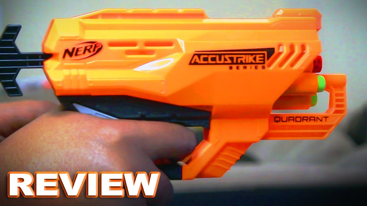 [REVIEW] Nerf Accustrike Quadrant Review - Accurate 4 Shot Sidearm Blaster?