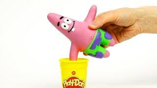 Spongebob's friend Patrick stop motion funny cartoon video
