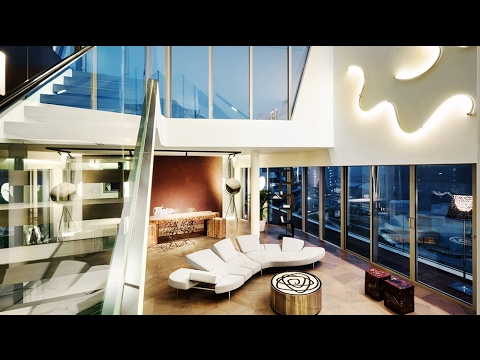Elegant Ultra-Modern Luxury Penthouse Apartment in Milan, Italy (by Zaha Hadid)