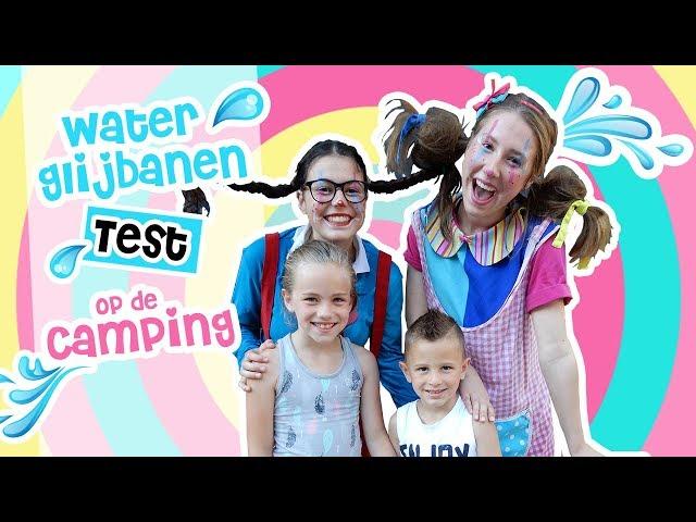 Nieuwe glijbanen testen op camping De Paal! | Djenna's Vlog #69