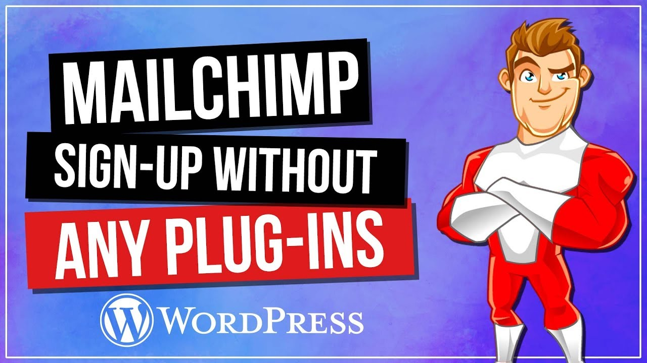 how to add mailchimp signup to wordpress