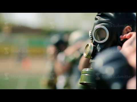 Russia, Novosibirsk, 2015: Children learn to wear a respirator