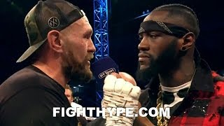(WOW!) DEONTAY WILDER & TYSON FURY IN-RING CONFRONTATION; CONFIRM FIGHT IS ON AND PROMISE KO