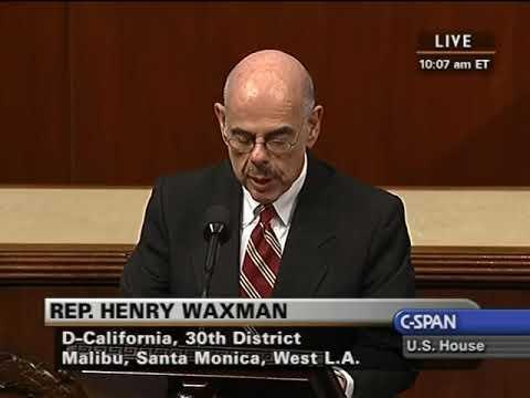 Rep. Henry Waxman On Rabbi Gil Steinlauf, Congregation Adas Israel, Washington, DC, January 27, 2010