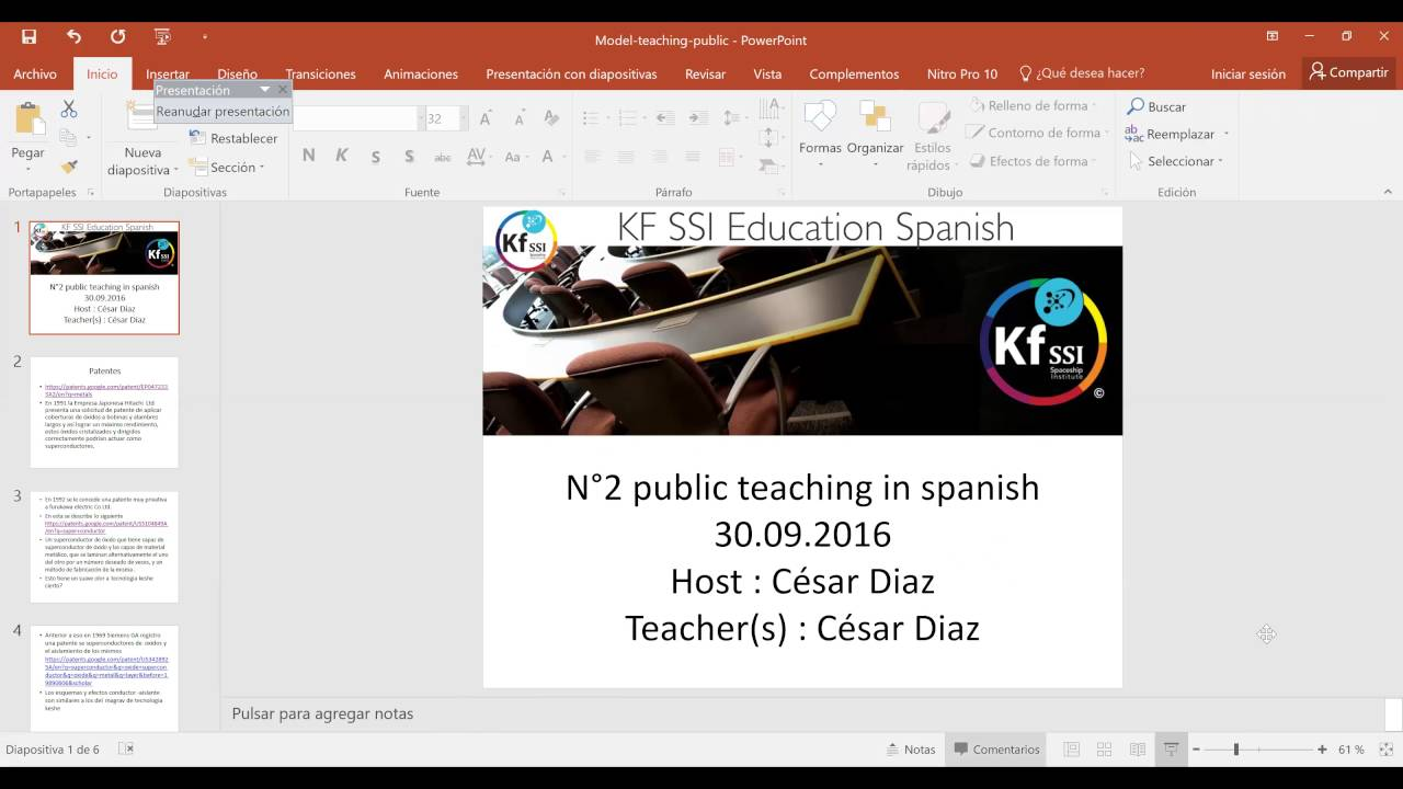 2016 09 30 PM Public Teaching in Spanish - Enseñanzas públicas en ...