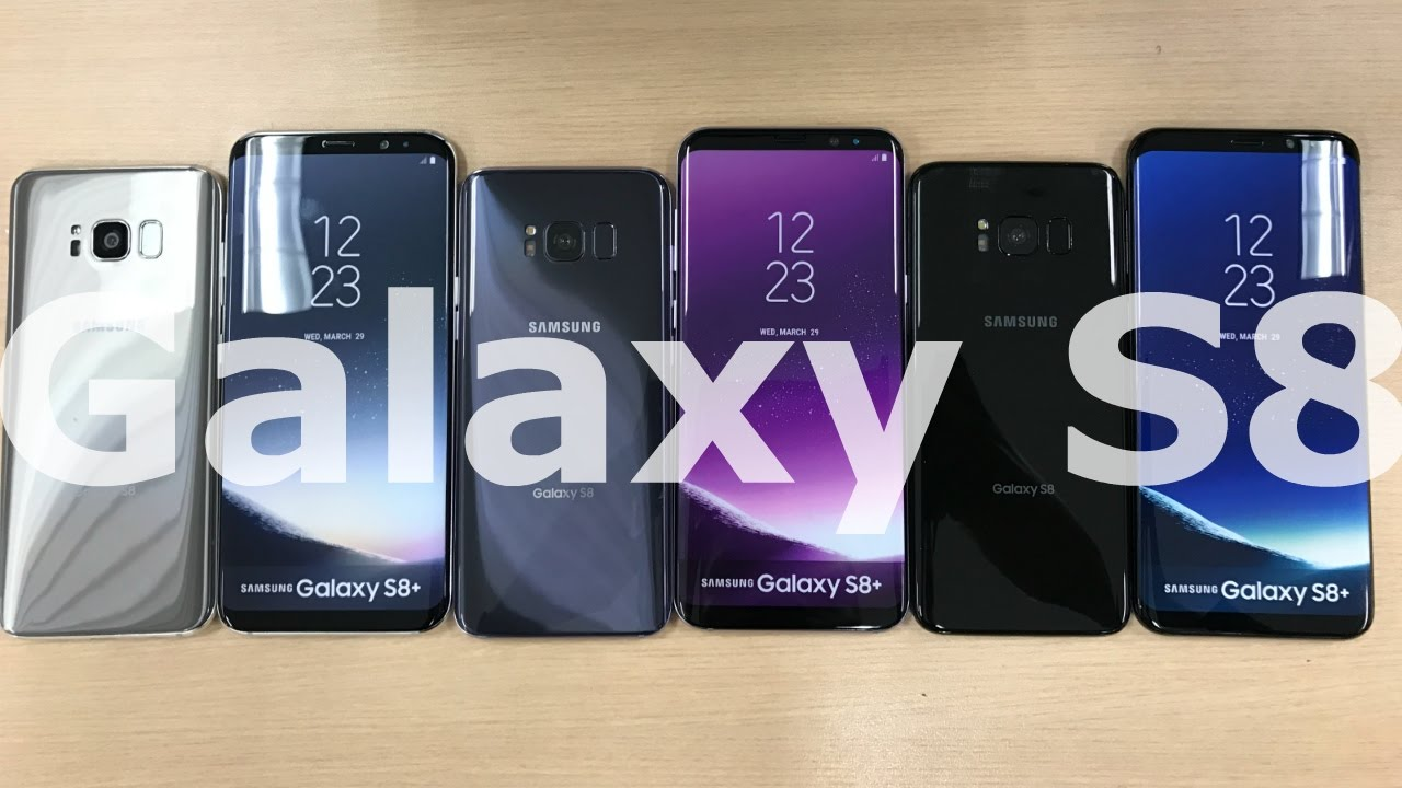 Samsung Galaxy S8 S8 Color Comparison Giveaway Youtube