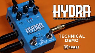 Keeley Electronics HYDRA Stereo Reverb and Tremolo - Technical Demo
