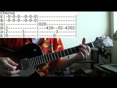 Guitar Lesson Foreigner Juke Box Hero Tab Youtube