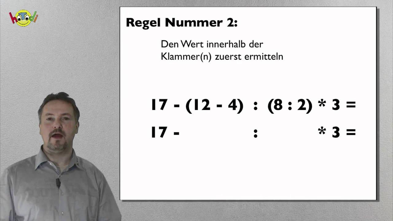 Klammerrechnung in der Mathematik - Grundlagenkurs - YouTube