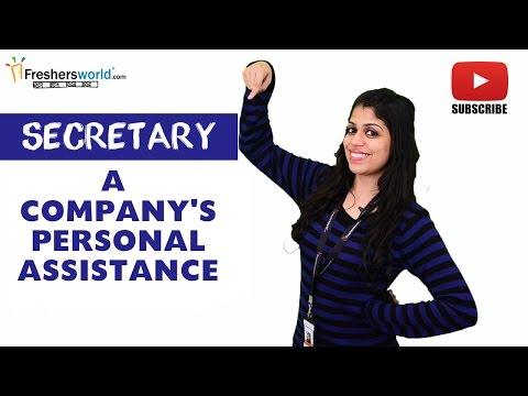 Job Roles For Secretary – Personal Assistant,Reporting skill