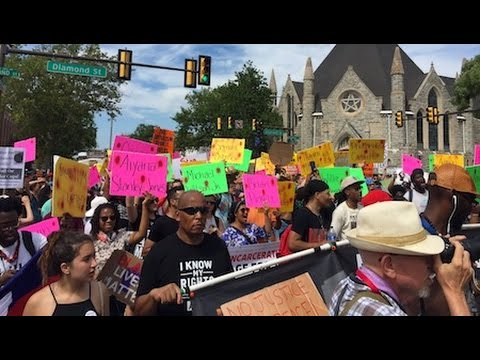 Thousands of Black Lives Matter Activists Protest During the DNC