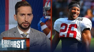Saquon is the best back in the league, talks Lamar Jackson — Nick Wright | NFL | FIRST THINGS FIRST