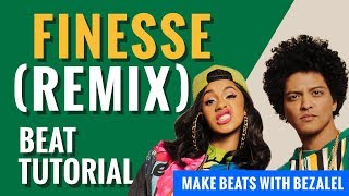 Bruno Mars - Finesse (Remix) ft Cardi B - Beat Making tutorial fl studio (2018)