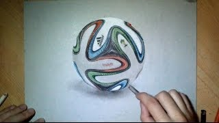 Official FIFA ball - Drawing time lapse