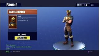 Buying NEW Skin Battle Hound and Silver Fang -Fortnite