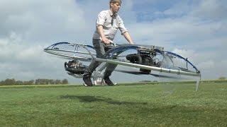 Homemade Hoverbike(What a creation, it's a unhinged flying bike/human blender but unbelievably it gets off the ground and actually FLIES. For a limited period i have some tee shirts ..., 2016-04-28T15:00:01.000Z)