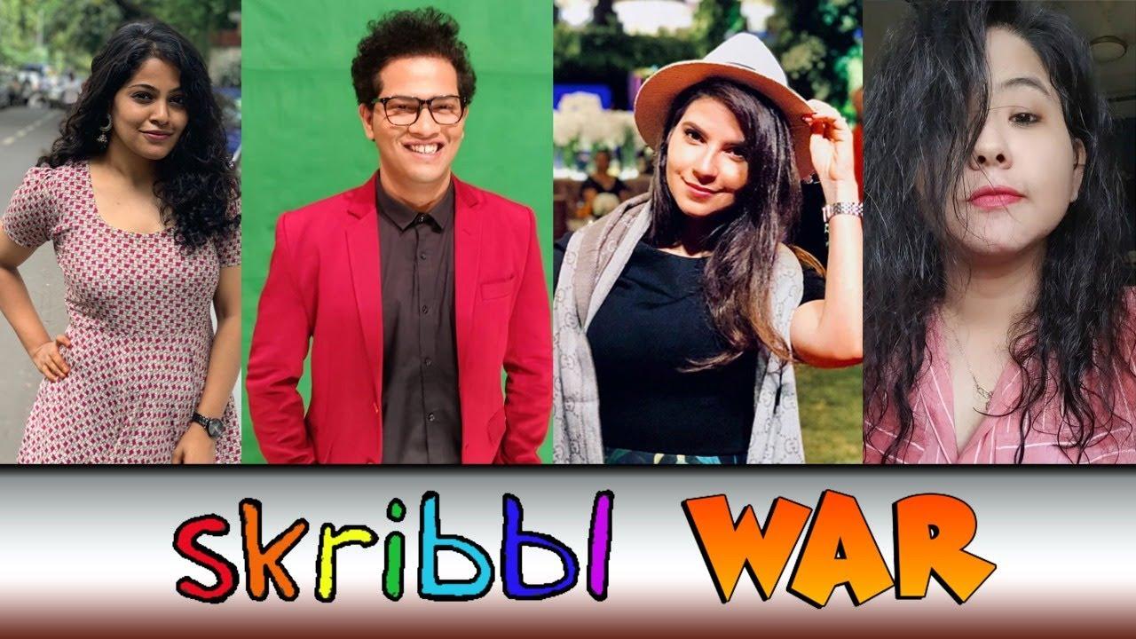 SKIRRBLE WAR ft. Pratik, Pooja, Sandra, @justneelthings, @karandoeseverything