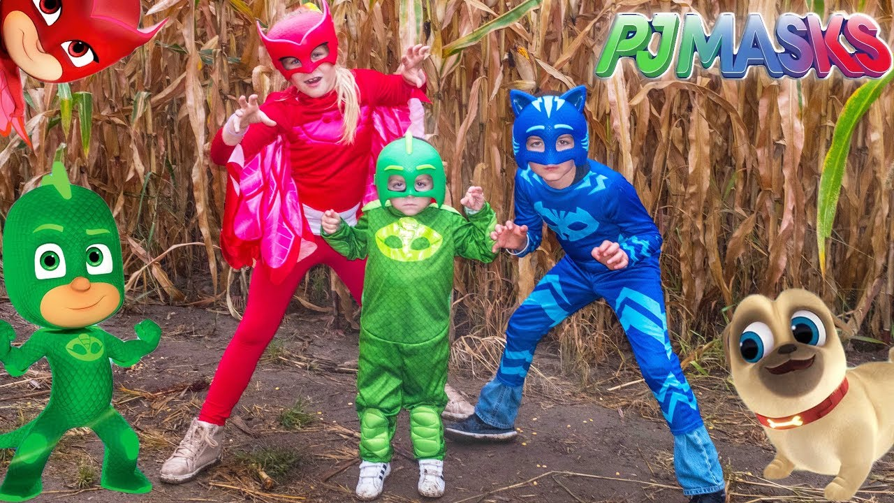 Download PJ MASKS Lost in a Corn Maze Gekko and Owlette Look for Puppy Dog Pals