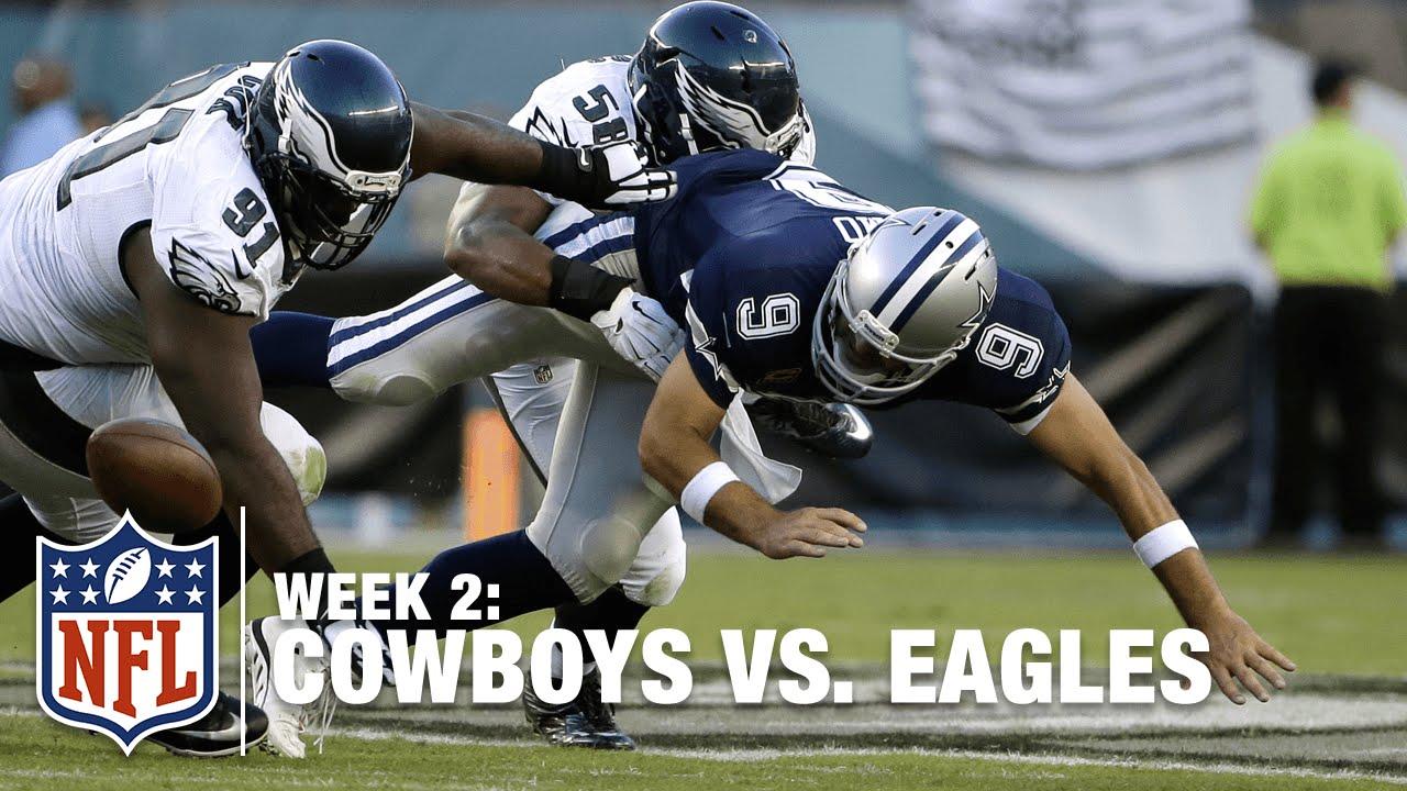 best service 0edfe 4ab8b Down Goes Romo! Eagles Cedric Thornton Records Sack   Cowboys vs. Eagles    NFL