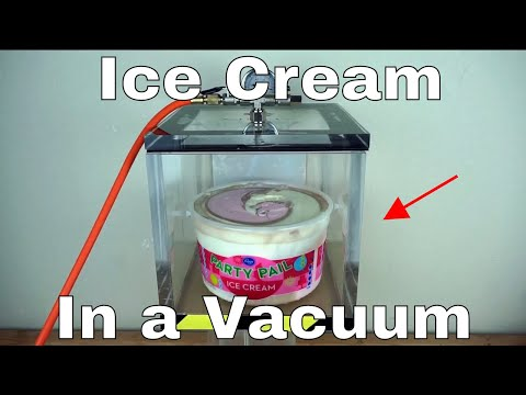 Checking How Much Air is In Ice Cream With a Huge Vacuum Chamber = Ice Cream Win!