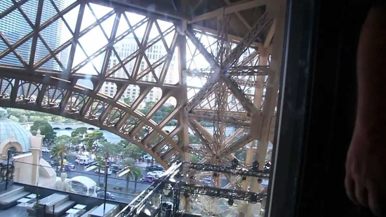 Elevator Ride To The Top Of Eiffel Tower Las Vegas Youtube
