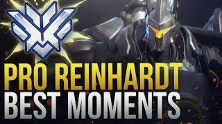 BEST PRO REINHARDT MOMENTS - Overwatch Montage