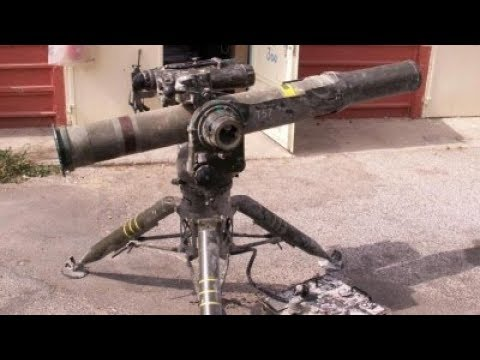 Jihadists attack Syrian Army tank using the BGM-71 TOW, an American anti-tank missile